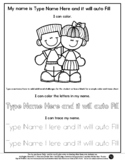 Friends - Name Tracing & Coloring Editable Sheet - #60Cent