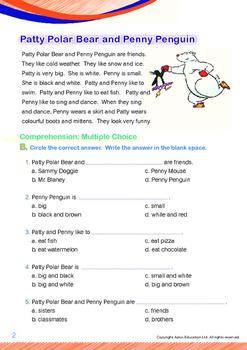 Friends - Patty Polar Bear and Penny Penguin - Grade 1