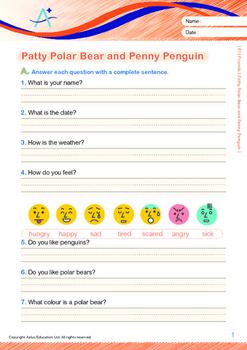 Friends - Patty Polar Bear and Penny Penguin - Grade 1 ('Triple-Track Lines')