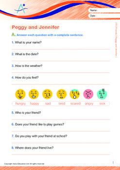 Friends - Peggy and Jennifer - Grade 1