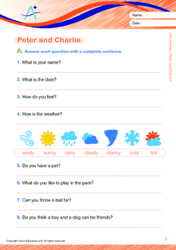 Friends - Peter and Charlie - Grade 1