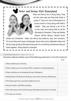 Friends - Peter and Kenny Visit Disneyland - Grade 3