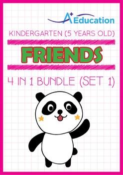 4-IN-1 BUNDLE - Friends (Set 1) - Kindergarten, K3 (5 years old)