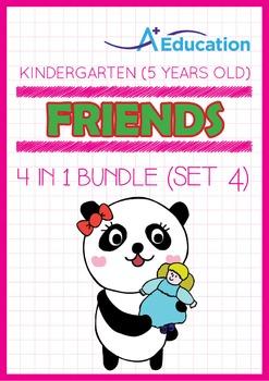 4-IN-1 BUNDLE - Friends (Set 4) - Kindergarten, K3 (5 years old)