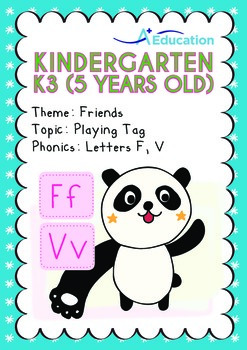 Friends - Playing Tag: Letters Ff Vv - Kindergarten, K3 (5 years old)