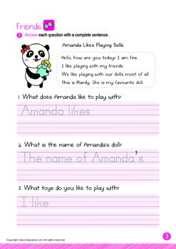 Friends - Playing with Dolls: Letters Ff Vv - Kindergarten, K3 (5 years old)