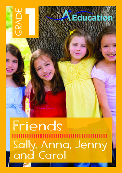 Friends - Sally, Anna, Jenny and Carol - Grade 1
