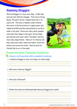 Friends - Sammy Doggie - Grade 1 (with 'Triple-Track Writing Lines')