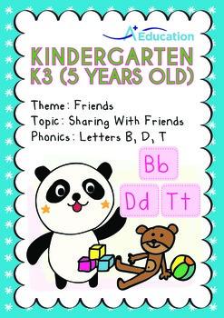 Friends - Sharing with Friends: Letters Bb/Dd/Tt - Kindergarten, K3 (age 5)