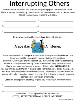 Friends Social Skills Worksheets by Empowered By THEM | TpT
