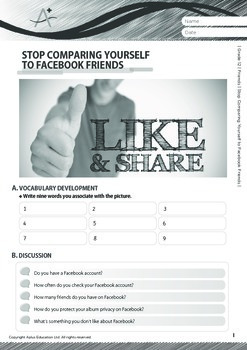 Friends - Stop Comparing Yourself to Facebook Friends - Grade 12