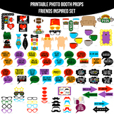 Friends TV Show Inspired Printable Photo Booth Prop Set