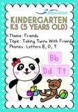 Friends - Taking Turns with Friends: Letters Bb/Dd/Tt - Kindergarten, K3 (age 5)