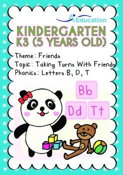 Friends - Taking Turns with Friends: Letters Bb/Dd/Tt - Ki