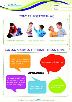 Friends - Tony is Upset With Me - Grade 3