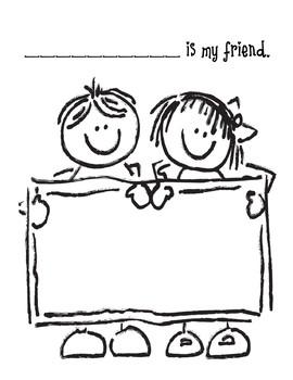 Friends Valentine's Day Write-in Book