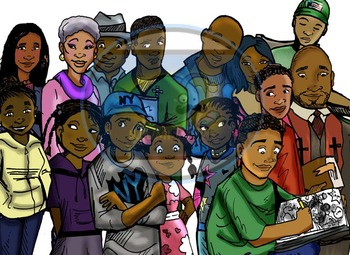 Friends and Family: 28 pc. Clip-Art Set (BW and Color)