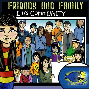 Friends and Family: Lin's CommUNITY 40 pc. Clip-Art