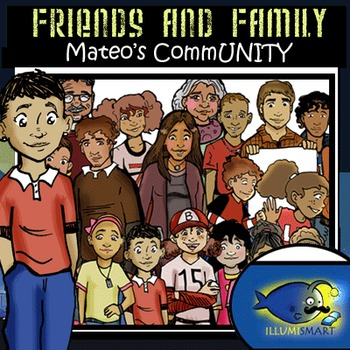 Friends and Family: Mateo's CommUNITY 40 pc. Clip-Art