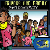 Friends and Family-Pari's CommUNITY: 34 pc. Clip-Art BW and Color!