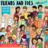 Friends and Foes Secondary Clipart Teen Social Interactions
