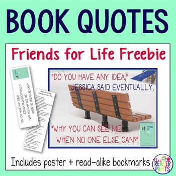 Friends for Life Poster and Bookmark printable (3 pages)