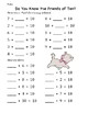 Friends of 10 Number Line and Practice Worksheets