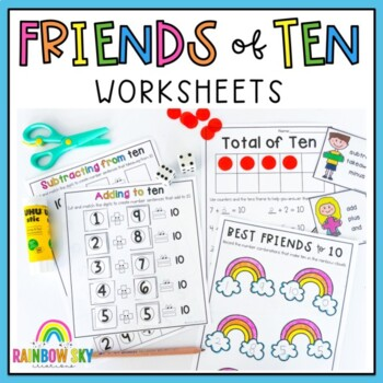 Friends of 10 Number Pack - Addition and Subtraction activities and ...
