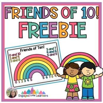 Friends of 10 Ten Freebie Make A 10 Ten Rainbow