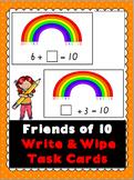 Friends of 10 Write & Wipe Task Cards