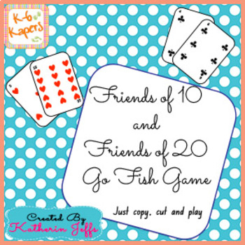 Friends of 10 and 20 Go Fish
