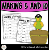 Differentiated Friends of 10 and Friends of 5 | Making 10 and Making 5 Worksheet