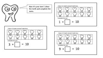 Friends of 10 tooth themed maths