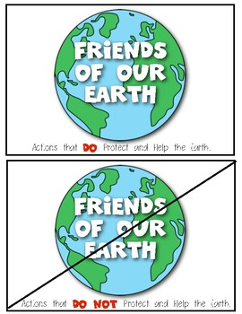 {Friends of Our Earth} Sorting Cards and Writing Response for Earth Day