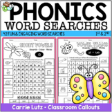 Phonics Word Searches with Picture Cues