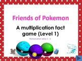 Friends of Pokemon - A multiplication game (Level 1)
