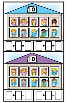 Friends of 10 Math Game Activity Center