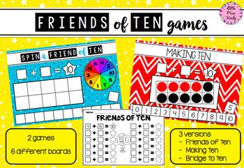 Friends of Ten / Bridge to Ten / Making Ten Games