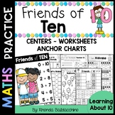 Friends of Ten ~ Centers Worksheets & Anchor Charts