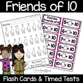 Friends of Ten Flash Cards and Timed Tests (Make 10)