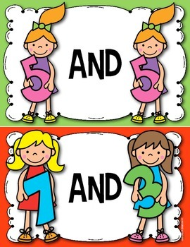 Friends of Ten Posters for Kindergarten & First Grade Math Fluency to 10