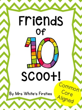 Friends of Ten Scoot ~ Addition Fluency Game