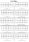 Friends of Ten Ten's Mates worksheet on tens frames