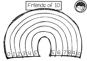 friends of ten rainbow template coloring and poster set by miss