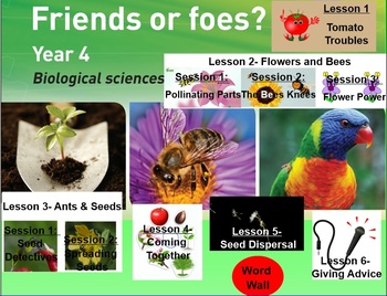 Friends or Foes: YEAR 4 Primary Connections Biological Sciences. WHOLE TERM!