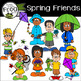 Friends through the Seasons Clip Art Bundle