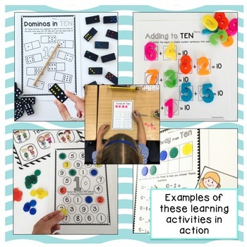 Friends to 10 BUNDLE - Addition and Subtraction worksheets and activities