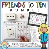 Friends to 10 BUNDLE - Addition and Subtraction worksheets, centres & activities