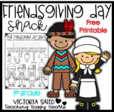 Friendsgiving Day Snack {Free Printable}