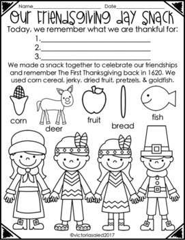 Friendsgiving Day Snack {Free Printable}